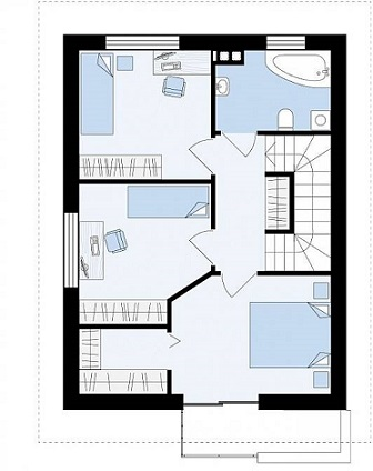 94 план 2 этажа