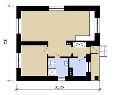 план 100м одноэтажный