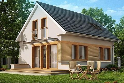 106 м 2 дом с мансардой