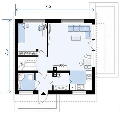 план дома 106 1эт