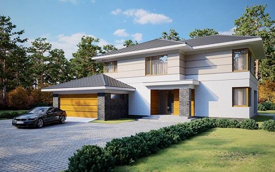 проект двухэтажного дома 284 м2