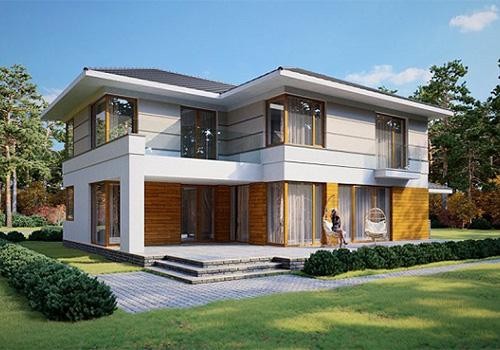 проект дома 284 м2 из СИП панелей