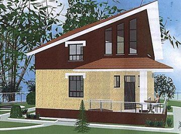 100 м2 проект дома с террасой