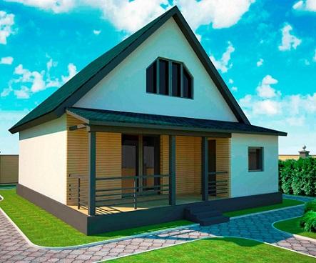 108 м2 дом для круглогодичного проживания 2