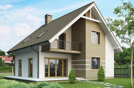 проект дома 170 м с мансардой