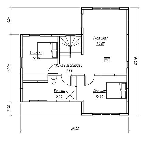 план дома 152 м2 2 эт