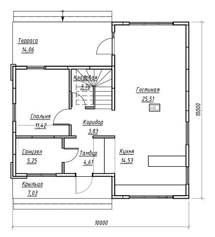 план дома 152 м2 1 эт