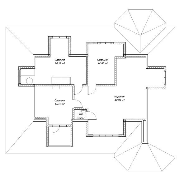 план дома 260 м2 мансарда
