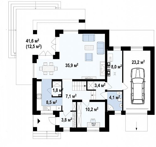 проект 284 манс 1 этаж