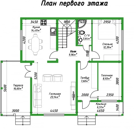 проект 186 1 этаж
