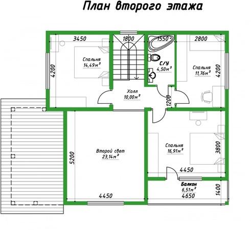 проект 186 2 этаж