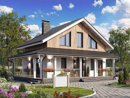 проект дома 108 мансарда дружный