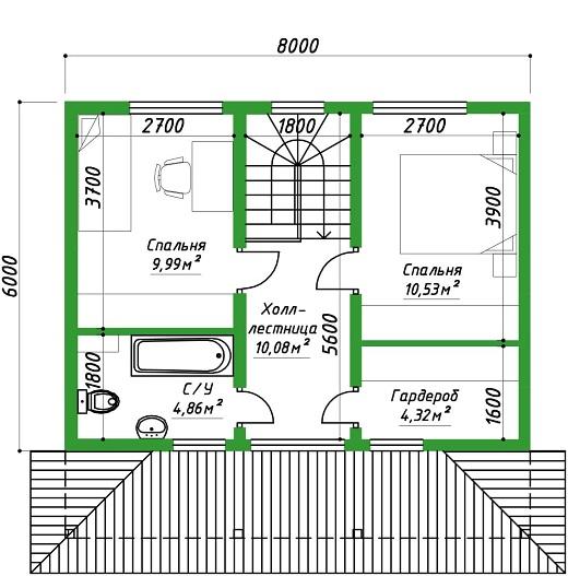 проект дома 96 план 2